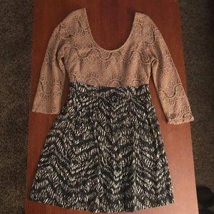Dresses & Skirts - Black and Tan dress